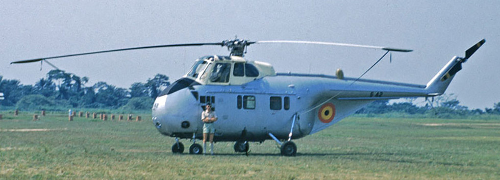 Openbare Weermacht/Force Publique Sikorsky H-19 S-42 at Kitona in May/June 1960.