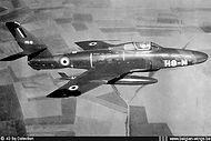 N° 42 Squadron Republic RF-84F Thunderflash FR-13 in flight.