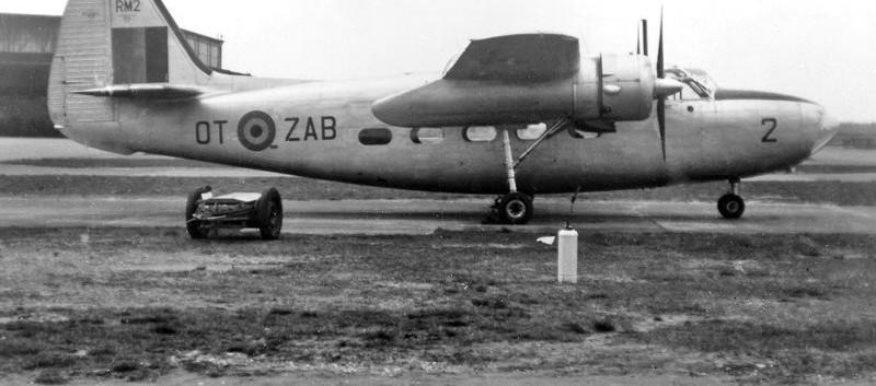 Percival Pembroke C.51 RM-2 / OT-ZAB still in bare metal finish.