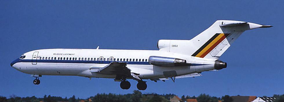 Boeing 727-29QC CB02 landing at Koksijde airbase in August 1984.