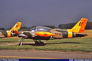 Siai Marchetti SF260 ST-14 at the Goetsenhoven Airshow on 28 August 1986.