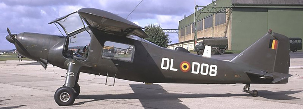 Dornier Do27J OL-DO8 in the static display of the Middle-Wallop (U.K.) airshow on 31 July 1971.