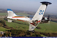 In 1995 Goetsenhoven celebrated its 45th anniversary as a post-war training base and the Marchetti was operational with the Belgian Air Force since 25 years. To celebrate both occasions ST-12 received a special paint scheme.