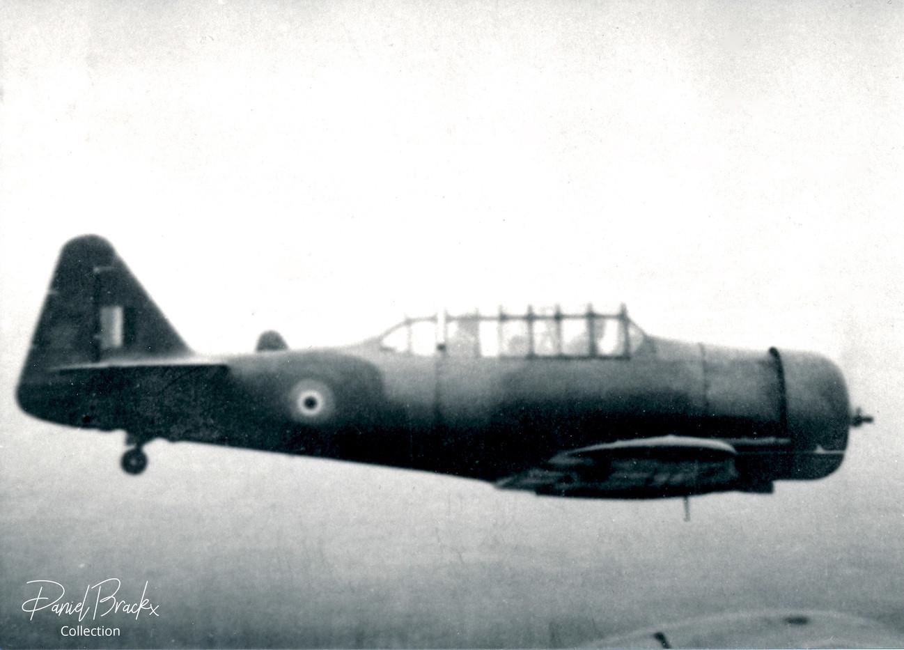 North American Harvard IIb FT419 in flight.