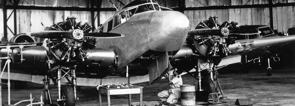 Airspeed Consul C-36 being maintained in Congo