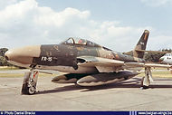 Republic RF-84F Thunderflash FR-15 in the static display of the Kleine Brogel Airshow (and 10th Tiger Meet) on 10 July 1970.