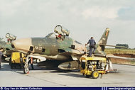 Republic RF-84F Thunderflash FR-33  being serviced at its home base Bierset in the late sixties .