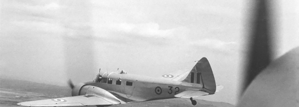 Airspeed AS.65 Consul C-32 in flight over Congo in the early fifties.