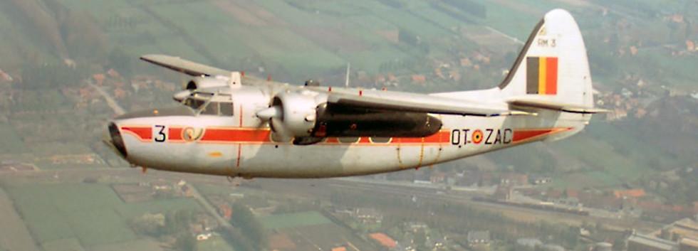 Percival Pembroke C.51 RM-3/OT-ZAC in flight over Belgium.