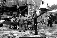 Siai Marchetti SF260 ST-13 being crane-handled at Goetsenhoven airbase after a landing mishap on the base on 25 July 1972.