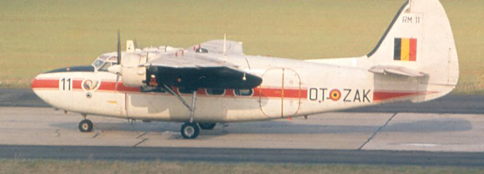 Percival Pembroke C.51 RM-11 / OT-ZAK taxiing in at Melsbroek airbase in the early seventies.
