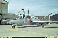 Potez-Air Fouga CM.170 Magister MT-03 at Bierset airbase in the mid-eighties.