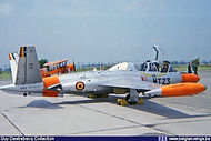 Fouga CM.170 Magister MT-23 in the static display at the Beauvechain Airshow on 26 June 1966.