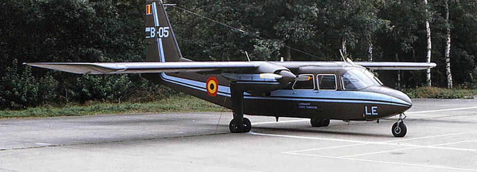 Britten Norman Islander B-05 at Brasschaat on 12 September 1982.