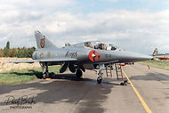 Mirage 5BD BD-12 received this special paint scheme for the Mirage farewell airshow at Bierset airbase on 25 & 26 September 1993. It sported the crests of the former Belgian Mirage operators: N°1, N° 2, N° 8 and N°42 Squadrons .