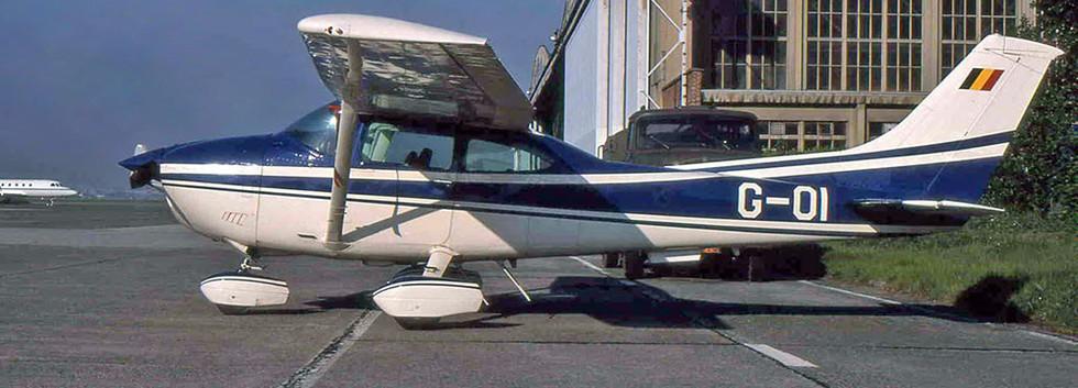 Cessna 182 Skylane G01 seen at Melsbroek airbase on May 1995