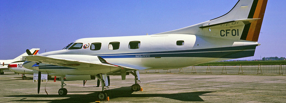 Fairchild Swearingen Merlin IIIA CF-01 at the Melsbroek airshow on 11 May 1976.