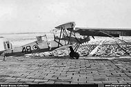 Stampe Vertongen SV-4B V-48 after a ground collision with Army Piper L18C Super Cub OL-L50 at Goetsenhoven airbase on 27 February 1958. Curiously this Stampe was withdrawn from use after this Cat. 2 incident. It has a second life as OO-PAM.