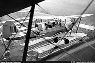Stampe Vertongen SV-4B V-17 low over Goetsenhoven airbase.