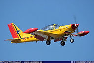 Siai Marchetti SF260M ST-19 landing at Beauvechain airbase on 26 March 2006.