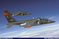 Alpha Jet AT31 in formation with AT22.