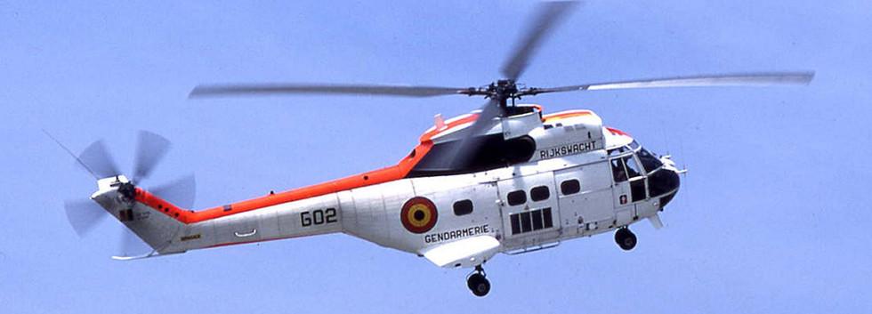 Aerospatiale Puma G-02 in Flight.
