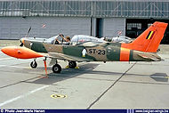 Siai-Marchetti SF.260M ST-23 seen at the Goetsenhoven airbase apron in 1989.