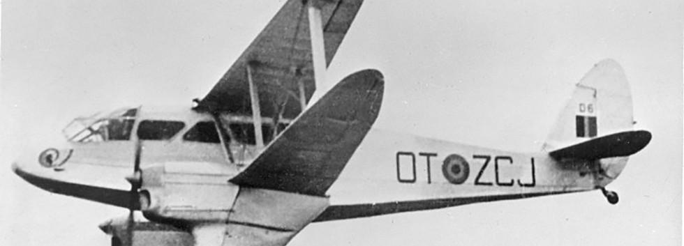 De Havilland DH.89A Dominie D-6 / OT-ZCJ in flight in the early fifties.