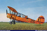 Stampe Vertongen SV-4B V-26 figuring on a well known postcard of the sixties.