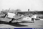 Auster A.O.P. 6 A-1 still sporting its former RAF registration VT977 on the wings in the late forties.
