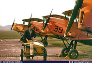 Stampe Vertongen SV-4B V-39 in a line up at Goetsenhoven airbase in the sixties.