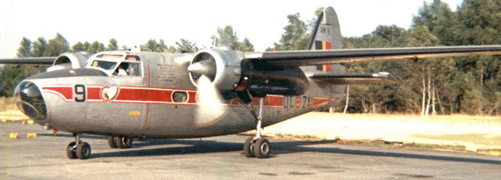 Percival Pembroke C.51 RM-9 /OT-ZAI starting up at Kleine Brogel airbase in September 1969.