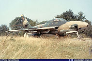 Republic RF-84F Thunderflash FR-29 on 11 July 1972 during the Koksijde airshow.