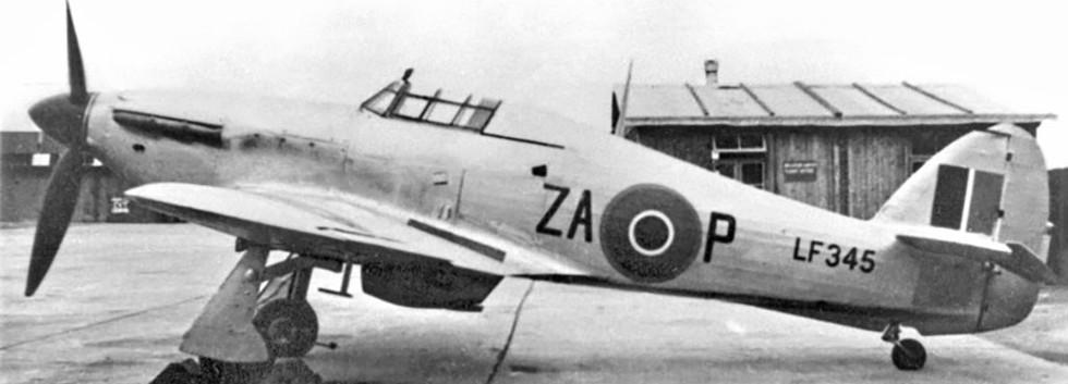 Hawker Hurricane IIc LF345/ZA-P of 516 Sqn/62 OTU, MCS (Metropolitan Communication Sqn.) RAF in early 1946, before  being transferred to N° 367 Squadron of N° 169 Wing/Belgian Air Force.