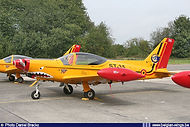 """Siai Marchetti SF-260M ST-35 with special tail decoration """"35 years Marchetti"""" during the European Trainer Meet 2005 at Beauvechain on September 15th, 2005."""