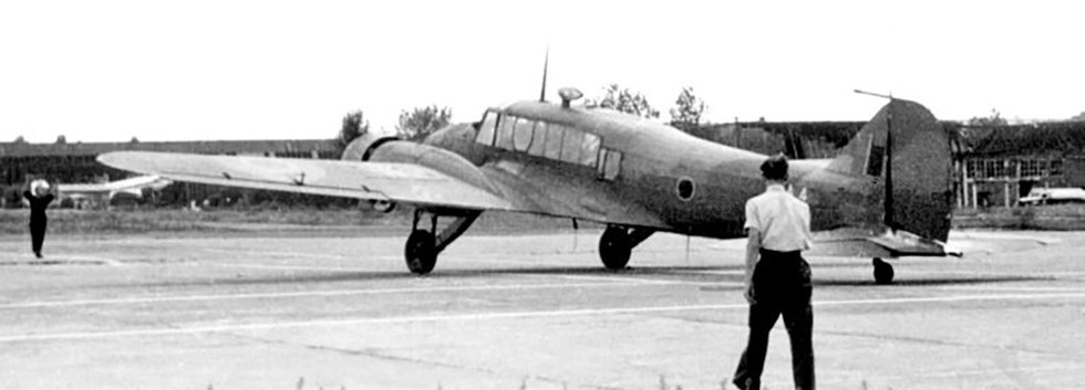 Avro Anson I NA-4 arriving at Evere airbase in the late forties.