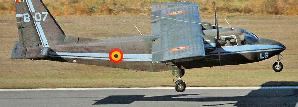 Britten Norman BN2B-21 B-07 taking off from Brasschaat airbase.