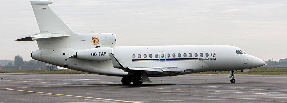 OO-FAE Seen at Melsbroek airbase on 9 October 2020.