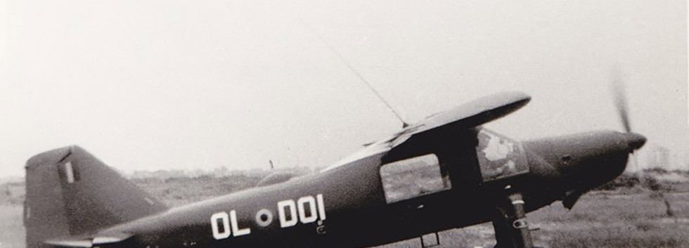 Dornier Do27J-1 D-01 at the rarely used airstrip of the Lombardsijde barracks in July 1962.
