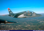 AMD Alpha Jet 1B AT-10 in flight over the Ardennes near Liège in 1999.