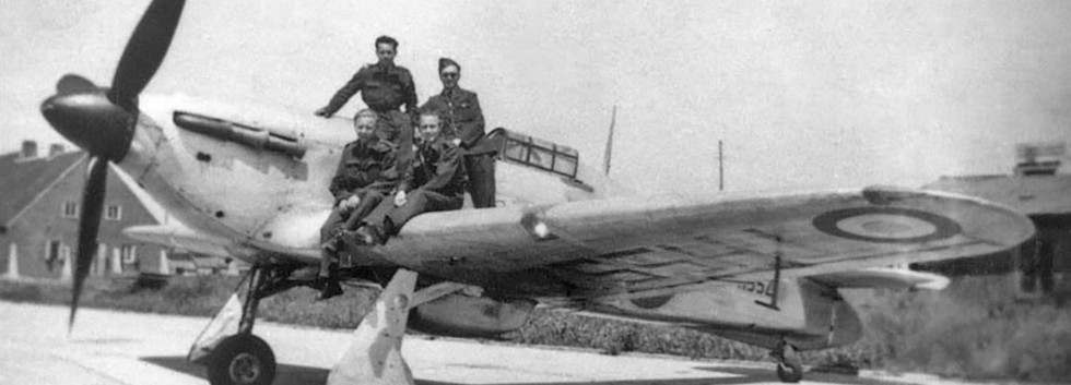 Hawker Hurricane PZ769/THS52 - ZC at Evere airbase in the spring of 1947.