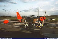 Camouflaged Siai Marchetti SF260M ST-25 at Brustem airbase on October 7th, 1988.
