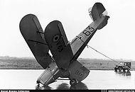 Stampe Vertongen SV-4B V-63 after an accident at Brustem airbase on 14 February 1957.