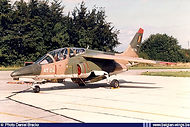 Gun-pod equipped AMD Alpha Jet 1B AT-24 at Brustem airbase on September 1st, 1994.