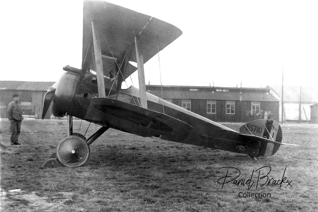 SK-1 was the first Sopwith F.1 Camel delivered to the Aviation Militaire Belge in November 1917 at Calais-Beaumarais.