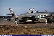 Republic RF-84F Thunderflash FR-19 / H8-T at Wahn/Köln airbase (Germany) in the winter of 1956/1957.