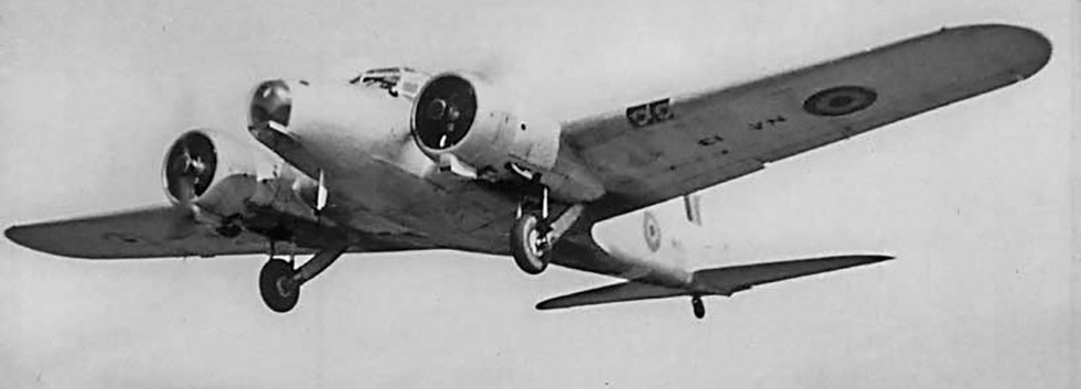 Avro Anson I NA-13 on short finals to Melsbroek airbase in the early fifties.