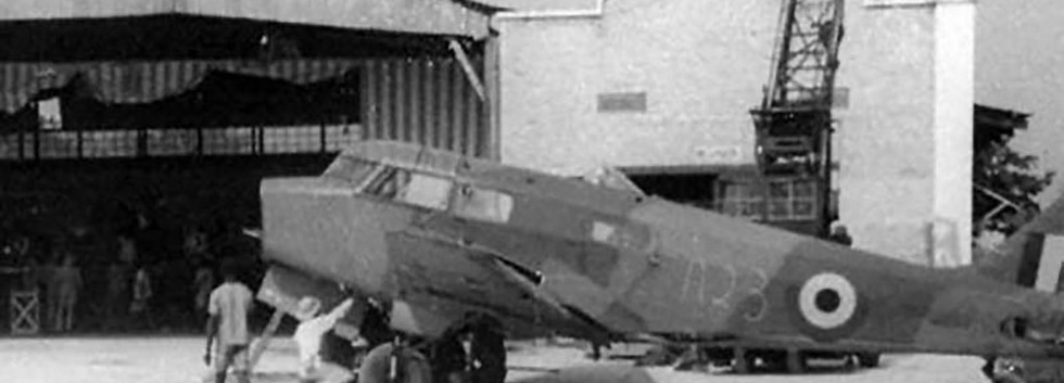 Airspeed Oxford I A-23 of the Force Publique being assembled upon arrival at Léopoldville in the summer of 1944.