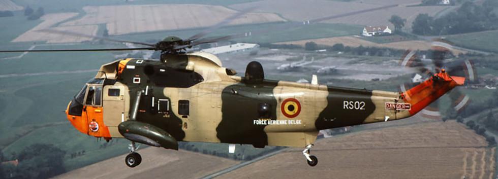 Westland Seaking Mk.48 RS-02 landing at Koksijde airbase in July 1987.