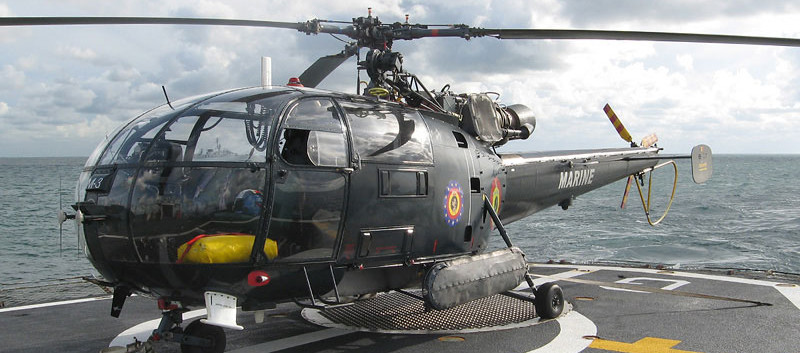 Sud Aviation Alouette III M-3 on the deck of the Godetia on 03 October 2006